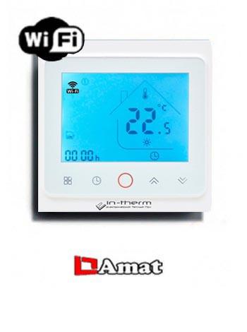 Программируемый терморегулятор для теплого пола In-therm PWT 002 Wi-Fi